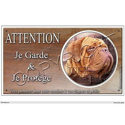Panneau chien ou plaque Dogue-de-Bordeaux-02 30 cm