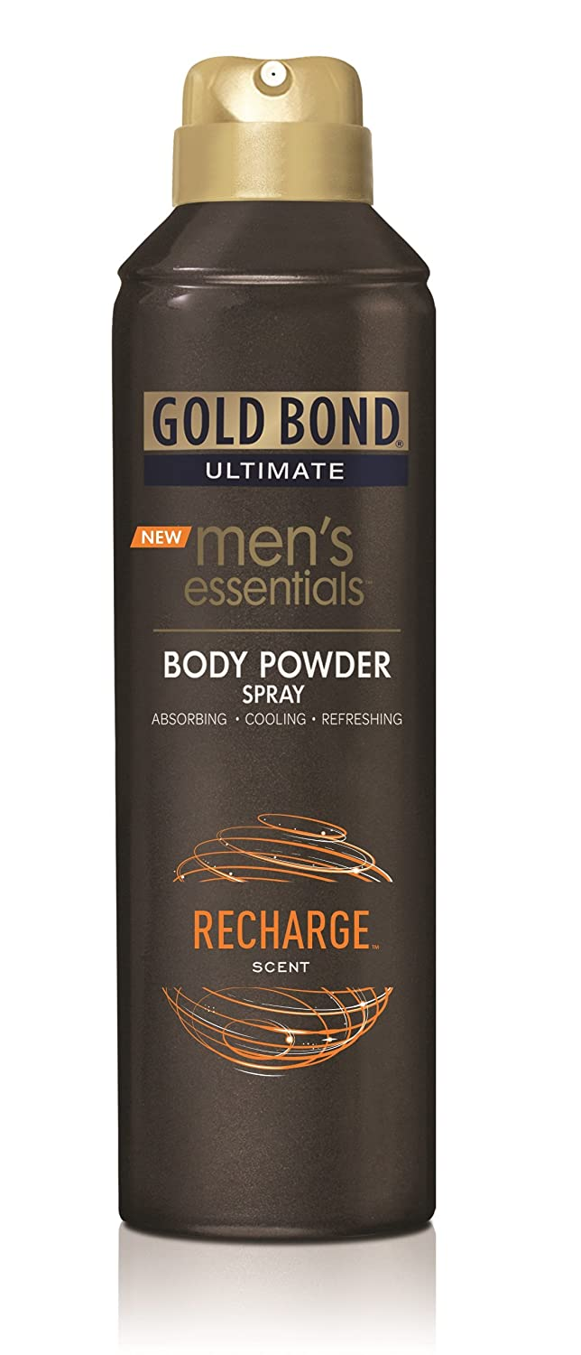 Gold Bond Men's Essentials Body Powder Spray Recharge 7 oz