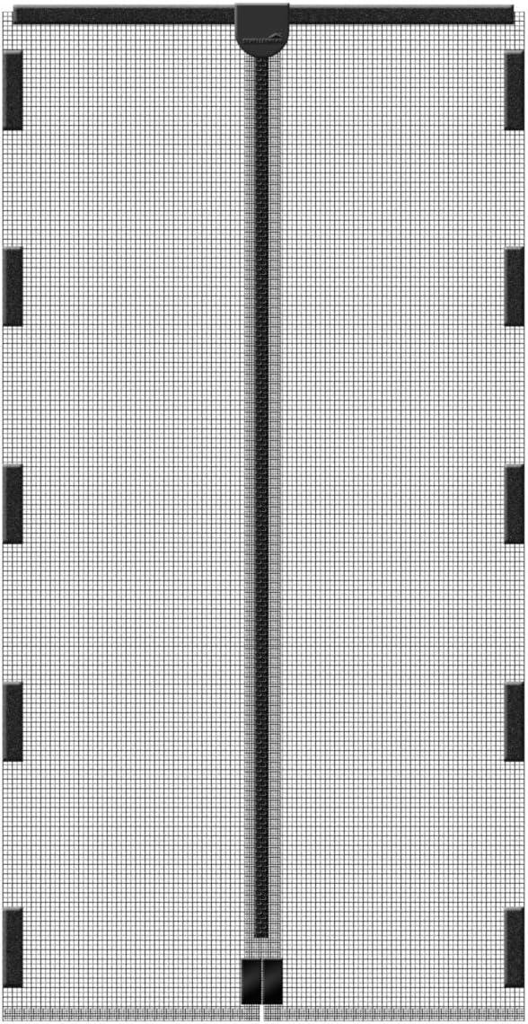 Full Frame Klettverschluss Insektenschutz Magnetvorhang Wei/ß GOUDU Magnet Fliegengitter Balkont/ür 120x220cm f/ür Balkont/ür Wohnzimmer Terrassent/ür