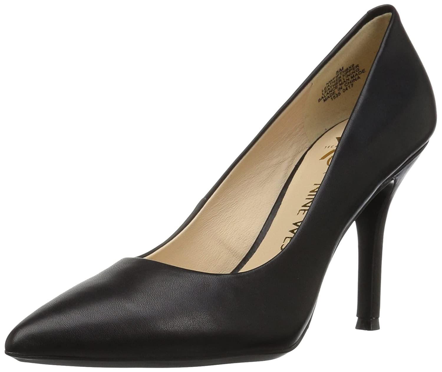 Nine West Women's FIFTH9X Fifth Pointy Toe Pumps B01N1NRKKP 6.5 B(M) US|Black Calf Leather