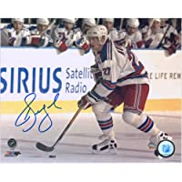 "$39 » Alexei Kovalev New York Rangers Autographed 8"" x 10"" White Jersey Skating Photograph - Fanatics Authentic Certified"