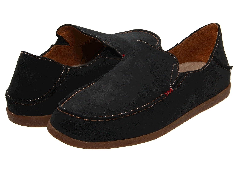 OLUKAI Nohea Nubuck Shoe - Women's Black/Tan 11 B006T6CRZU Parent