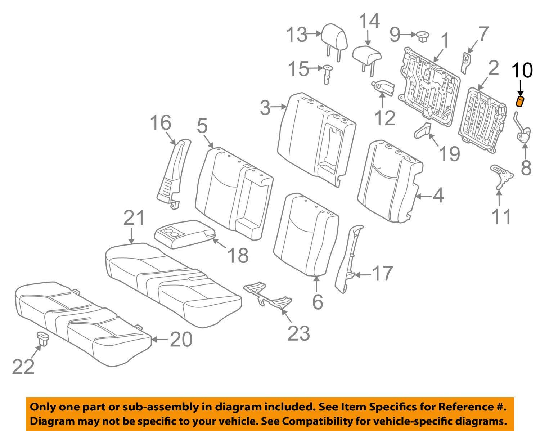 TOYOTA Genuine 72661-13030-G1 Seat Back Lock Release Button