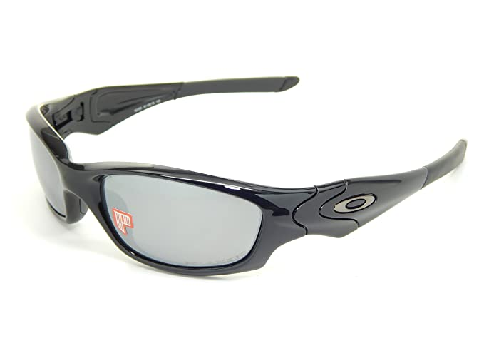 b9a53bbade8 Image Unavailable. Image not available for. Colour  New Oakley Straight  Jacket Polarized 12-935 Polished Black Black Iridium Sunglasses