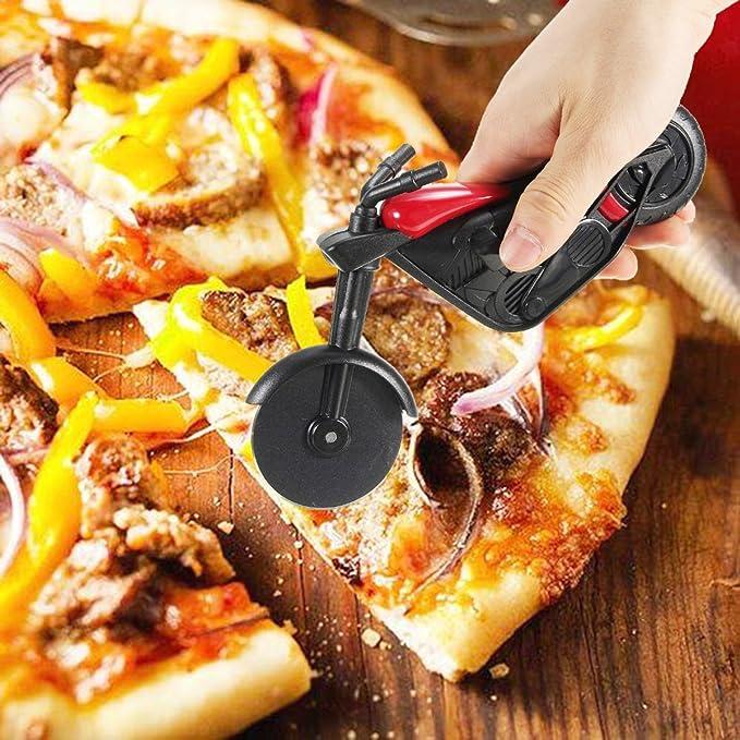 Compra Cortador de pizza con forma de motocicleta, en acero ...