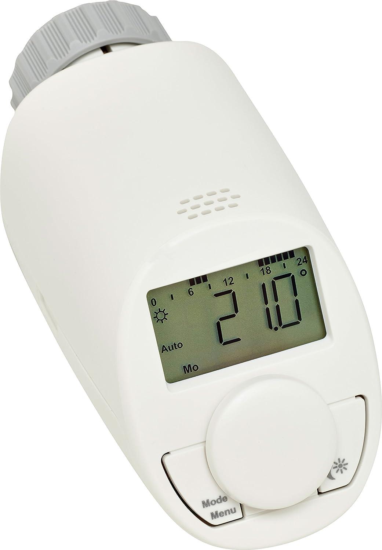 Eqiva CC-RT-N-EQ termoestato Gris, Blanco - Termostato (Gris, Blanco, M30 x 1.5 mm, IP20, LCD, Batería, AA): Amazon.es: Bricolaje y herramientas