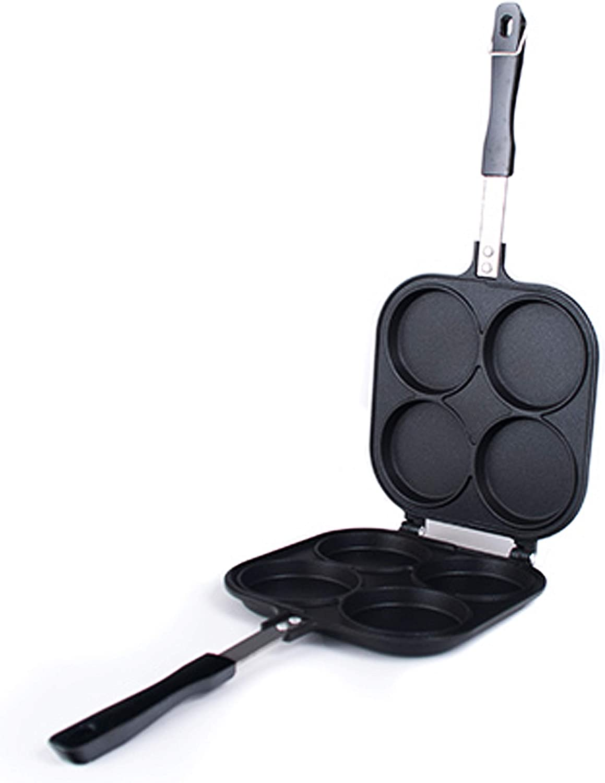 Happy Sales HSOB-YKP4B, Japanese Obanyaki Pan Stuffed Pancake Toaster Nonstick Aluminum Pan