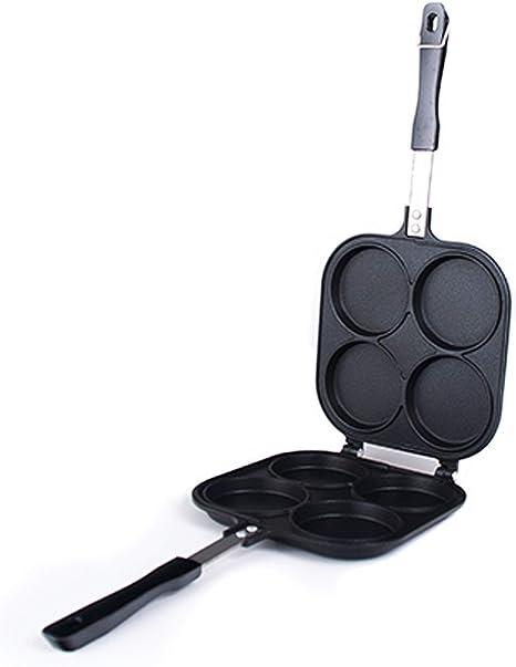 Black 7.5 Pancake Maker SENREAL Non-stick Pancake Copper Pan Double Layer Frying Maker for Cakes Pancake Toast Egg