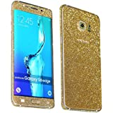 Heartly Sparking Bling Glitter Crystal Diamond Protective Film Whole Body Phone Skin Sticker For Samsung Galaxy S6 Edge SM-G925 - Champagne Gold