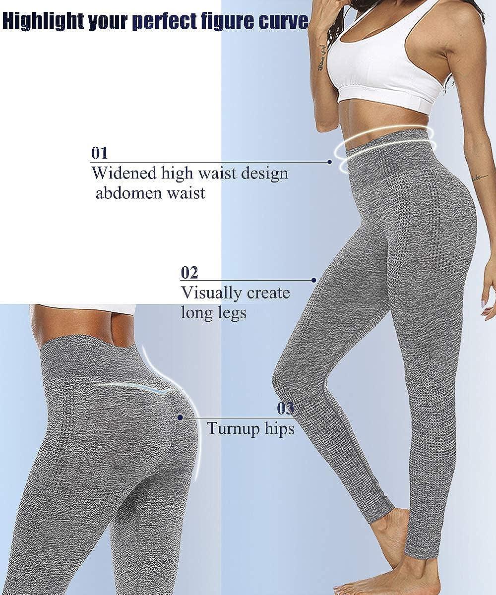 Womens High Waist Yoga Seamless Leggings Fitness Butt Lift Workout Gym Pants S6