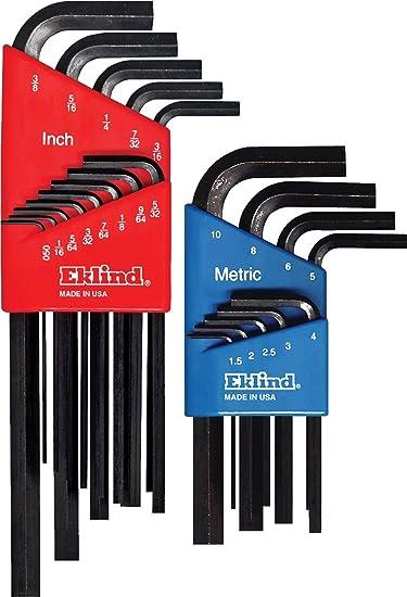 Pack of 5 Eklind 15220 5//16 Long Series Hex-L Key,