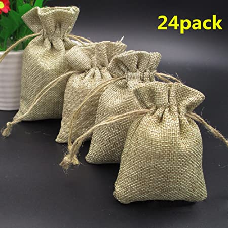 Burlap Bags With Drawstring Gift Bags Topwell 30pcs Resusable Jute