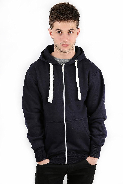 Parsa Fashions /® Mens Fleece Zip Up Hoody Jacket Long Sleeve Sweatshirt Hooded Top Mens Plain American Zipper Hoodie