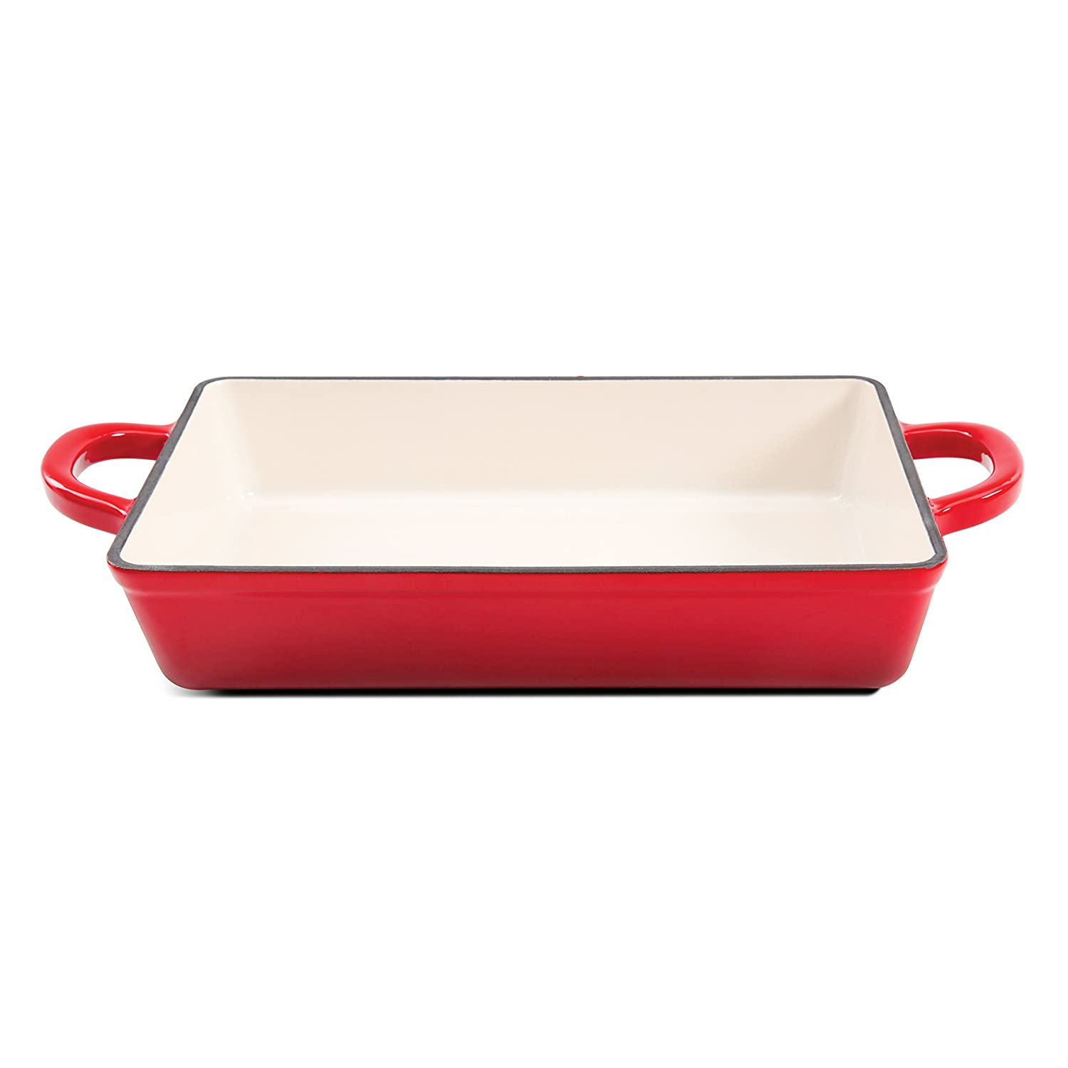 Crock Pot 112006.01 Artisan 13 Inch Enameled Cast Iron Lasagna Pan, Scarlet Red
