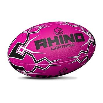 Rhino Lightning Rosa Touch Rugby Pelota de Rugby: Amazon.es ...