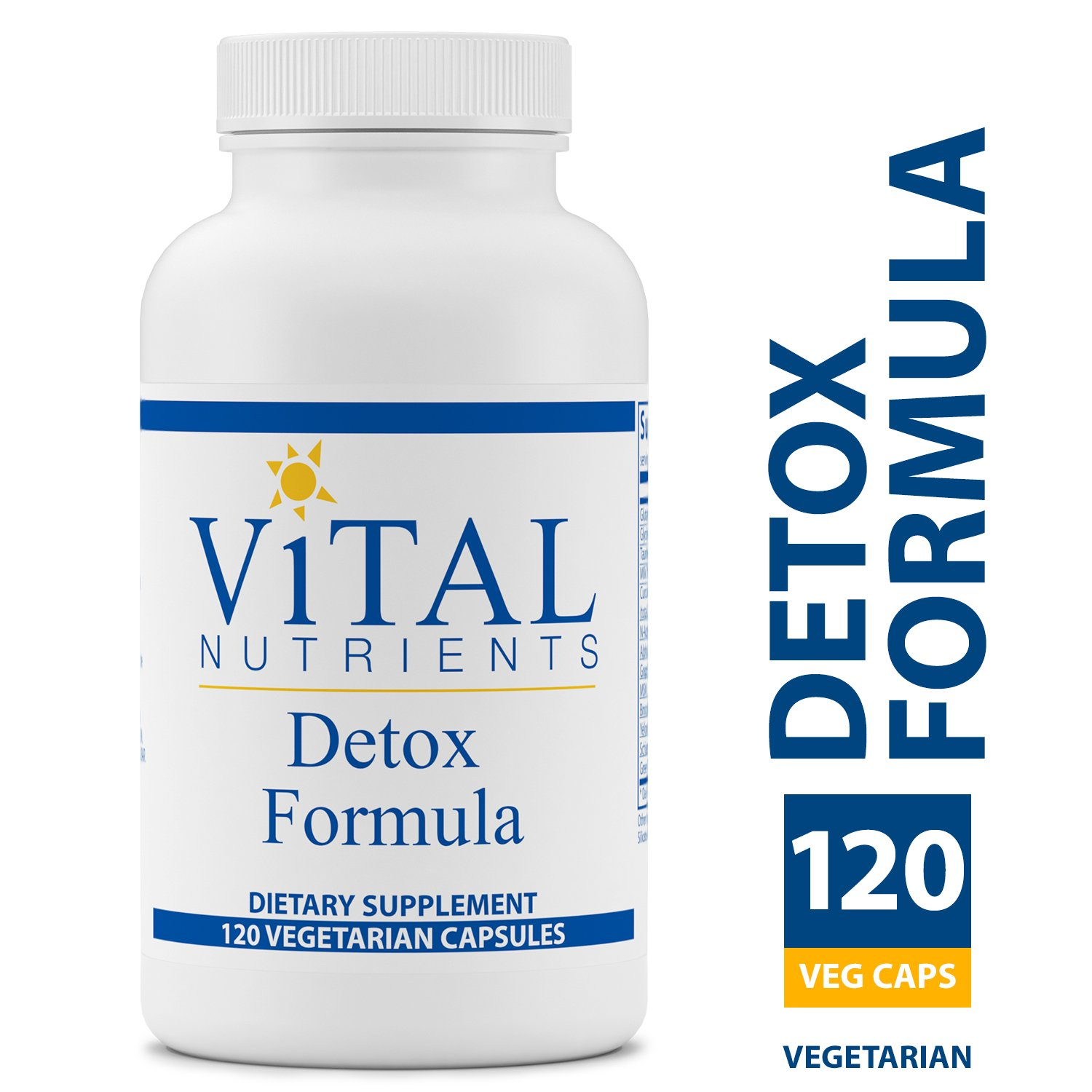 Vital Nutrients – Detox Formula – Specially Designed Formula for Liver and Detoxification Support – 120 Capsules per Bottle