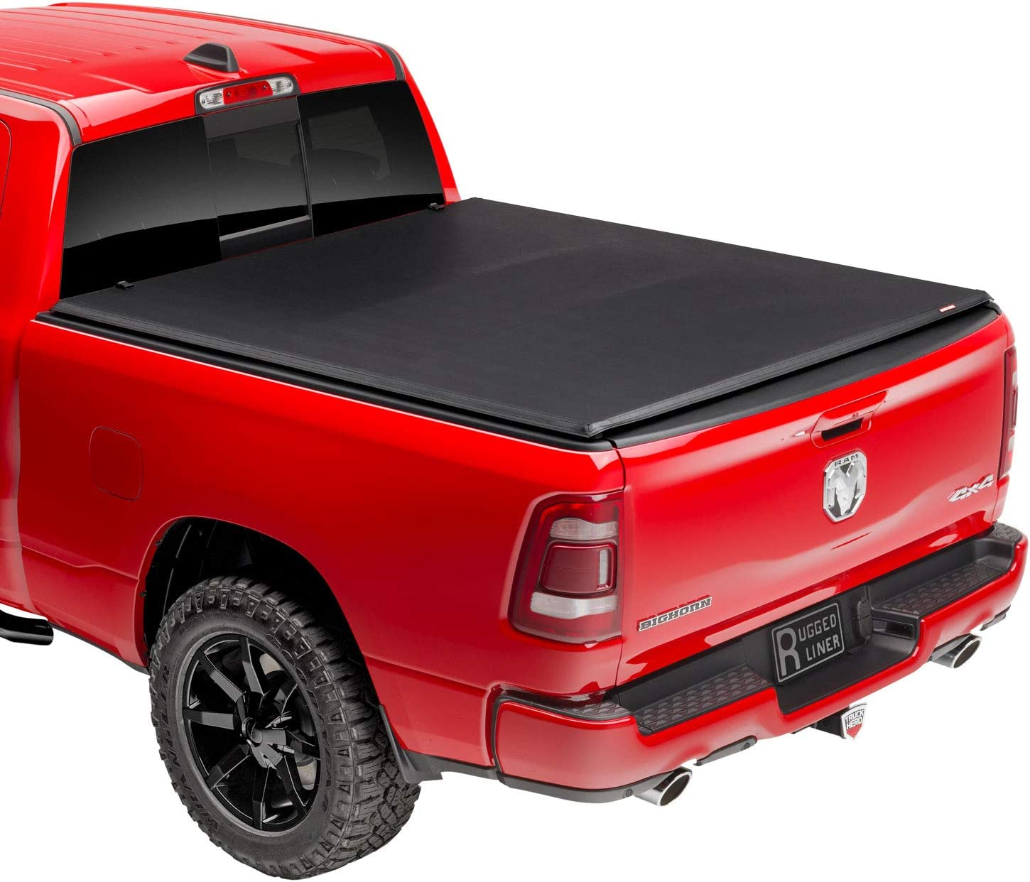 Amazon Com Rugged Liner Premium Soft Folding Truck Bed Tonneau Cover Fcd802 Fits 2002 2008 Dodge Ram 1500 8 0 Bed 96 Automotive