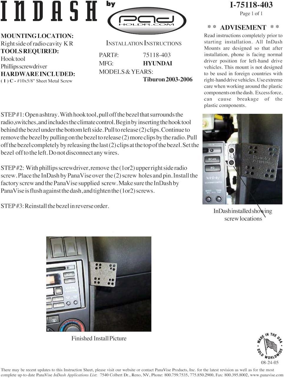 Padholdr Edge Series Premium Tablet Dash Kit for 2007-2009 Jeep Wrangler