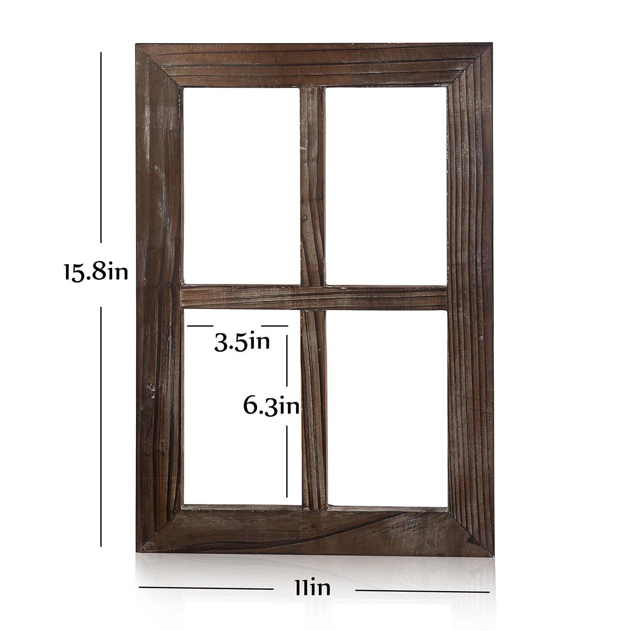 BESTOOL Viejo marco rústico de la ventana Barnwood - decoración para ...