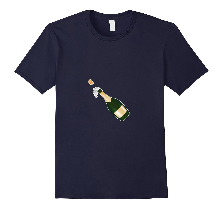 Champagne Emoji T-Shirt Pop Bottle Cork Celebrate Foaming-TH