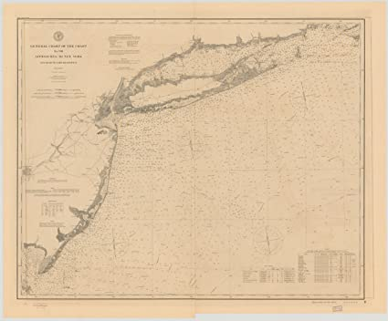Gay New York Map.Amazon Com Vintography C 1895 18 X 24 Reproduced Map Nautical Image