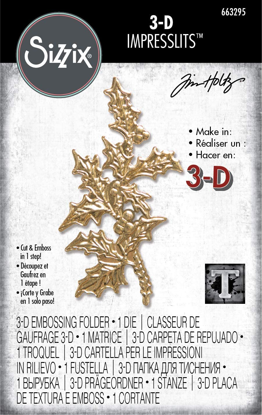 Sizzix 663295 Holly by Tim Holtz Dies Multicolor