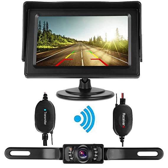 Punctual 4.3inch Car Wireless Rear View System Hd Mirror Monitor+waterproof Camera Kit Wide Selection; Rear View Monitors/cams & Kits