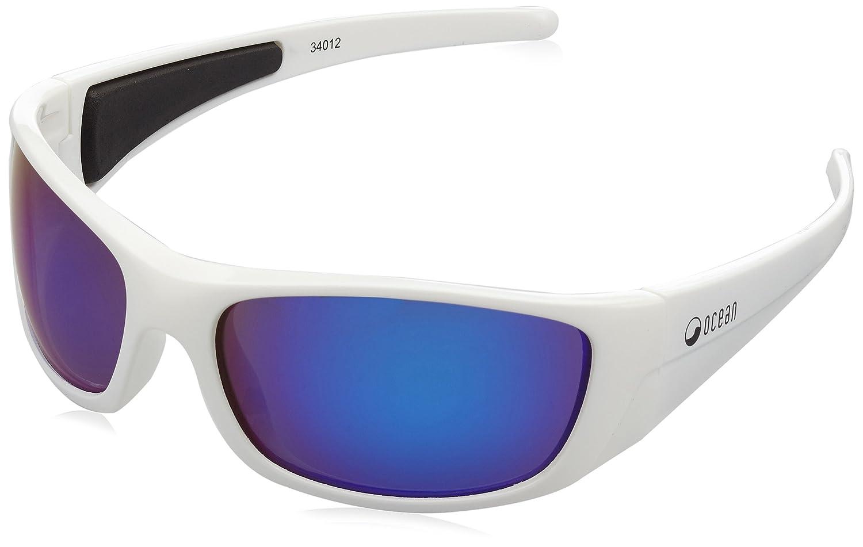OceanGlasses - Bermuda - Polarizierte Sonnenbrillen - Gestell: Blanc Laqué - Gläser: Revo Bleu (3401.2)