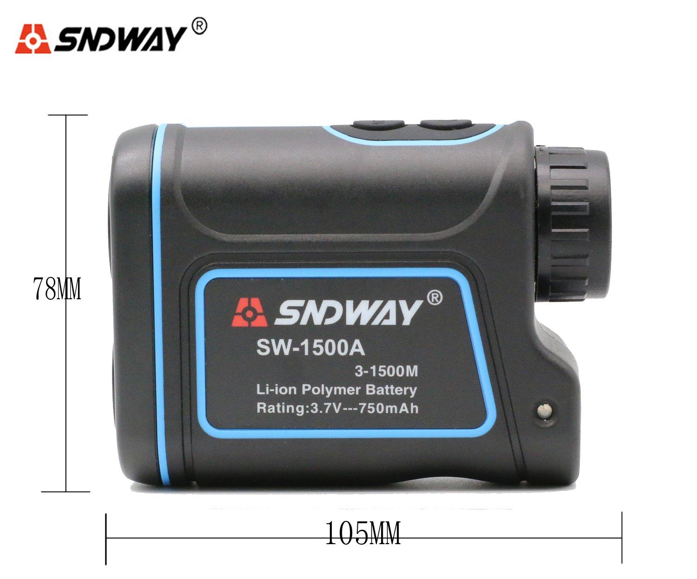 SNDWAY SW-1500A 1500M Handheld Monocular Digital Laser Distance Meter Hunting Rangefinder Telescope Golf Distance Meter by SNDWAY