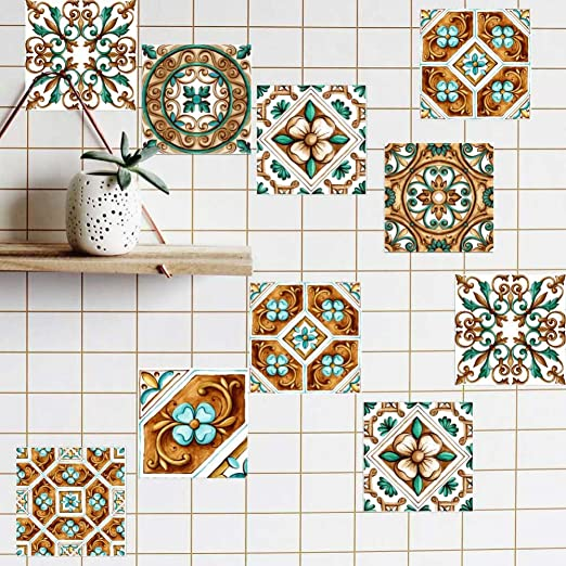 20Pcs Mosaic tile transfers stickers bathroom kitchen stick on wall stickers
