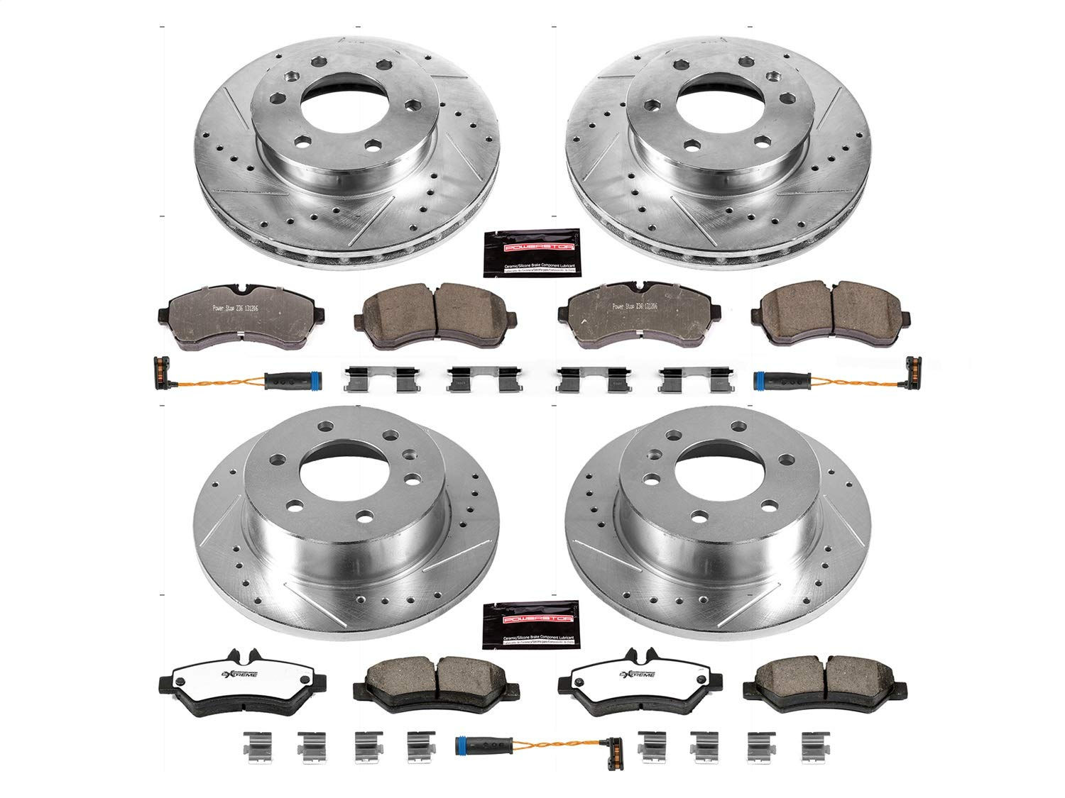 Power Stop K6233-36 Front and Rear Z36 Truck and Tow Brake Kit