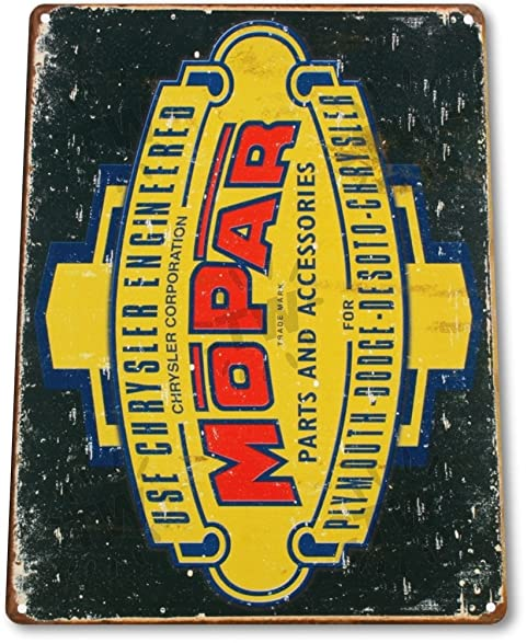 "Amazon.com: TIN SIGN ""Mopar Retro"" Metal Decor Wall Art Garage Auto ..."