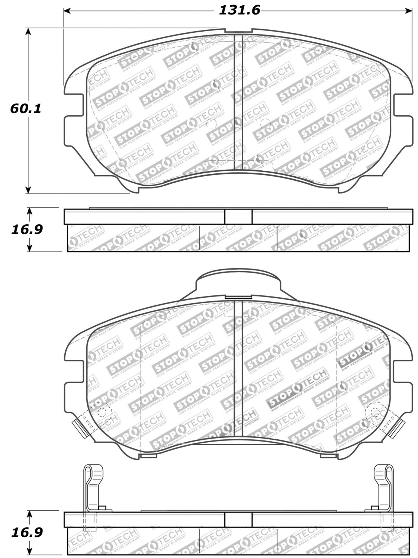StopTech 308.09240 Street Brake Pads 5 Pack