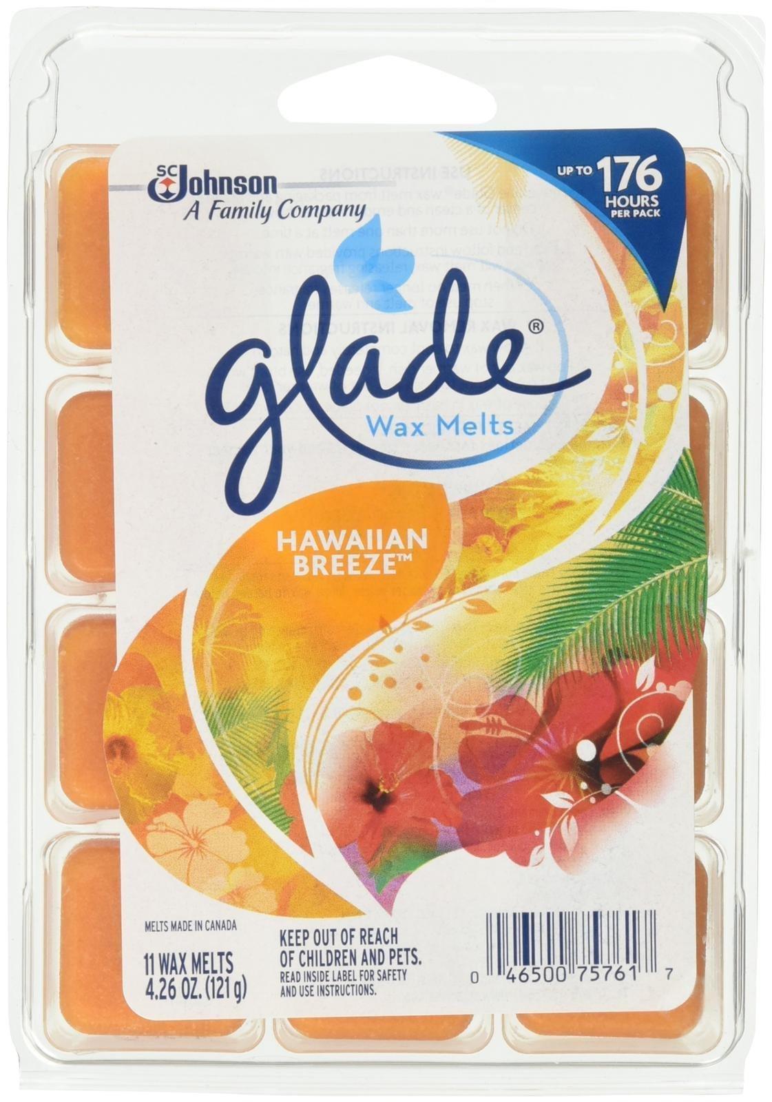 Glade Wax Melts Air Freshener Refill, Hawaiian Breeze, 11 Count, 4.26 Ounce