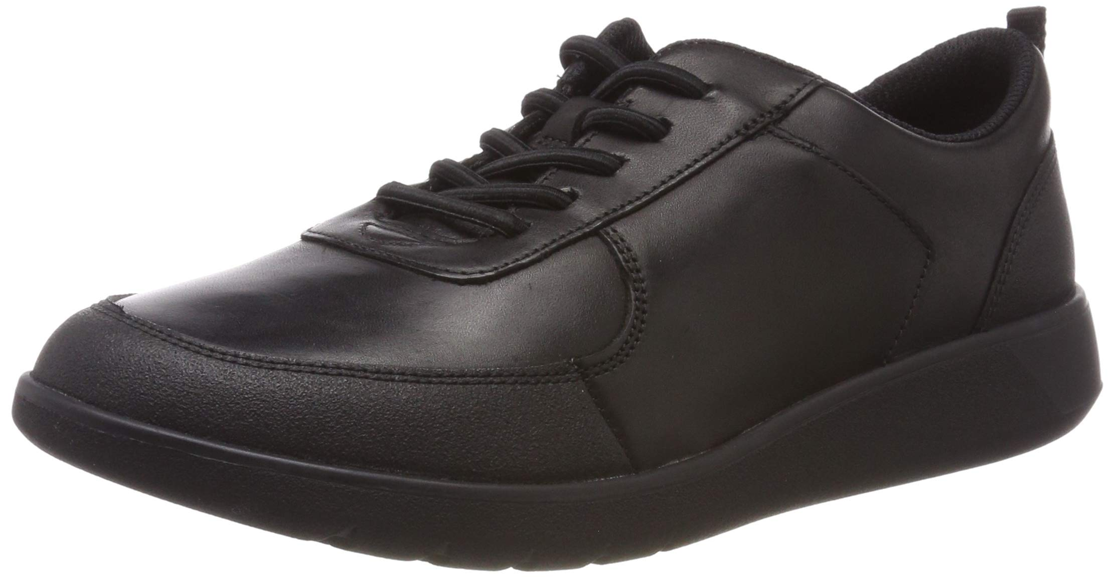 CLARKS Boys' Scape Street Y Brogues, (Black Leather-), 3 UK by CLARKS (Image #1)