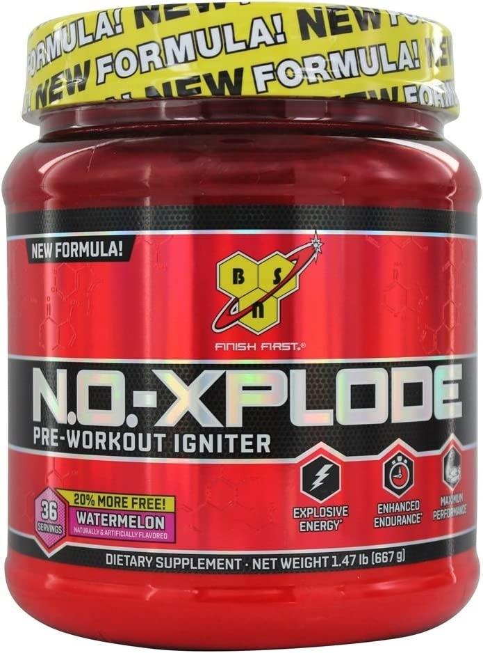 Bsn N.o.-xplode Pre-Workout Supplement, 36 Servings, Watermelon, 1.47 Pound