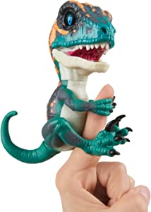 Untamed Raptor by Fingerlings - Fury (Blue) - Interactive Collectible Dinosaur - By WowWee