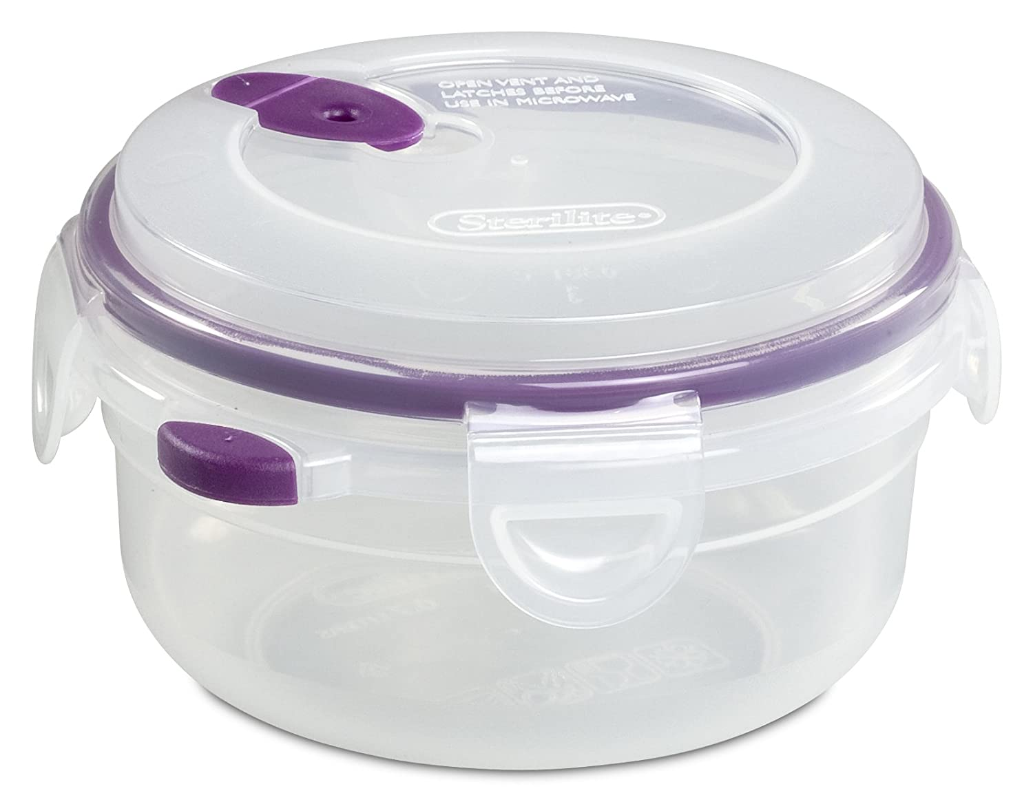 Amazon.com: Sterilite 03811706 Ultra Seal 3 Cup Food Storage Container,  See Through Lid U0026 Base With Sweet Plum Accents, 6 Pack: Food Storage  Containers: ...