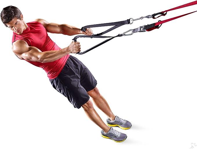 Fitness House FH Suspension Training Sistema de Entrenamiento, Unisex Adulto, Negro/Rojo, Talla Única