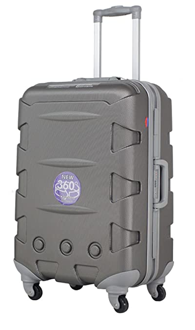 Ambassador Luggage ABS 20 Inch Carry On Luggage Spinner Suitcase Iron Gray