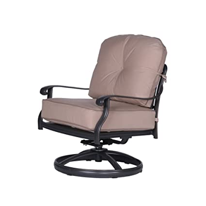 Magnificent Amazon Com Ipatio Athens Club Swivel Chair With Cushion Alphanode Cool Chair Designs And Ideas Alphanodeonline