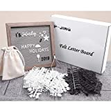 Felt Letter Board 10x10 Inches, Gray Changeable