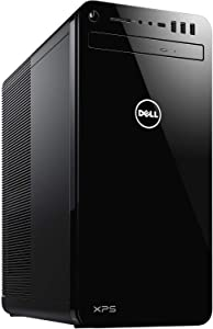 Dell 8930 XPS Tower Desktop Computer, 9th Generation Intel Core i7-9700, NVIDIA GeForce GTX 1050Ti 4GB Graphics, 256GB SSD plus 1TB HDD, 16GB Memory, Windows 10 Home, DVD-RW, Black