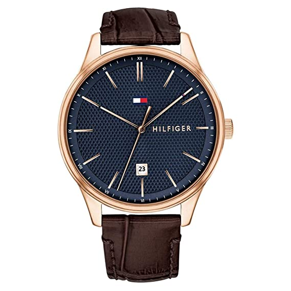 Amazon.com: Tommy HilfigerMens Analog Blue Casual Quartz Tommy Hilfiger Damon 1791493: Watches