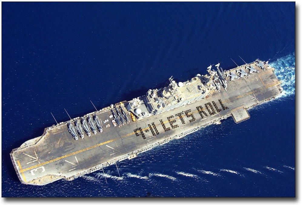 USS Belleau Wood 9/11 Let's Roll 8x12 Silver Halide Photo Print