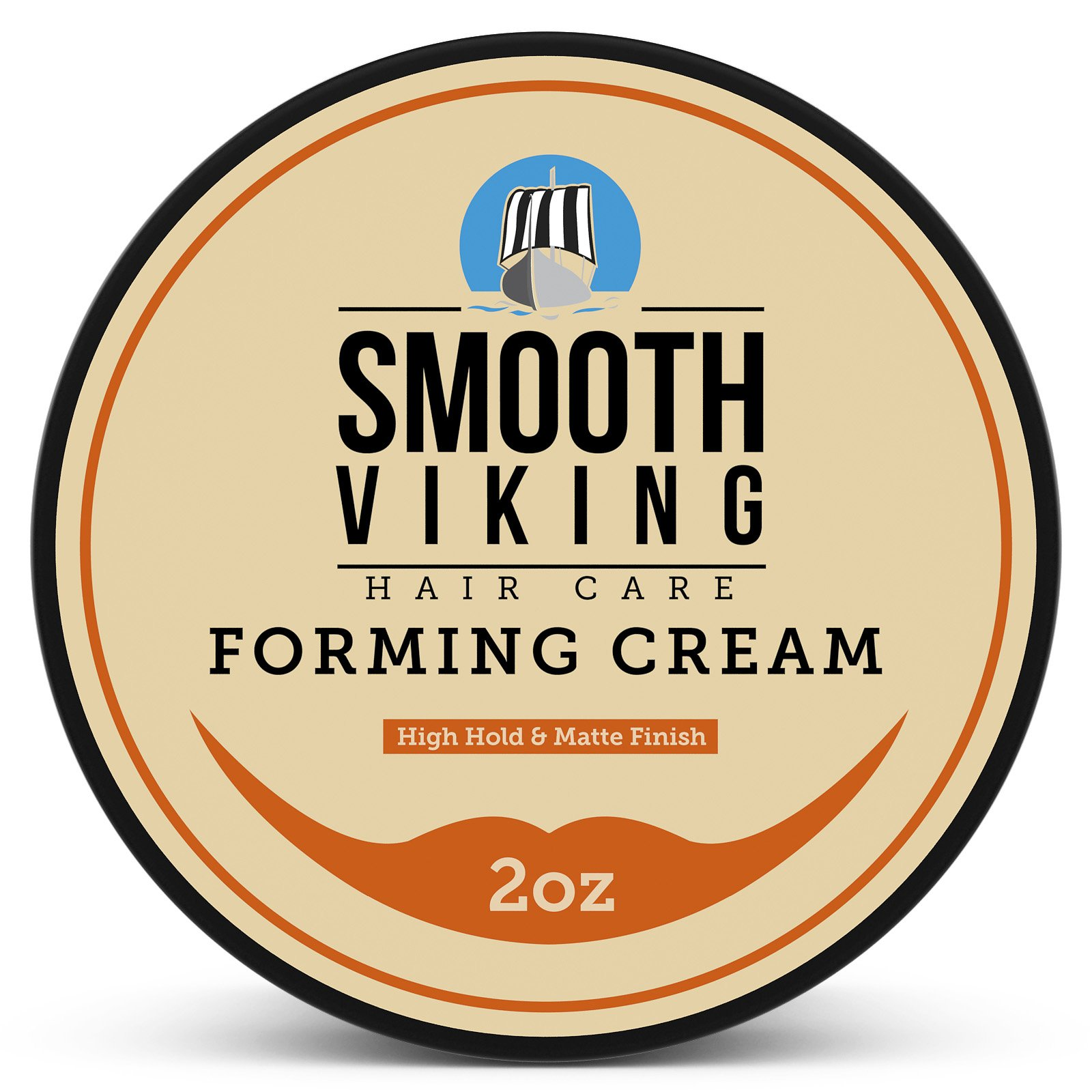 Forming Cream for Men - Hair Styling Cream for High Hold & Matte Finish - Best Pliable Formula for Modern, Classic & Slick Styles - Short, Long & All Other Hair Types- 2 OZ - Smooth Viking by Smooth Viking Beard Care