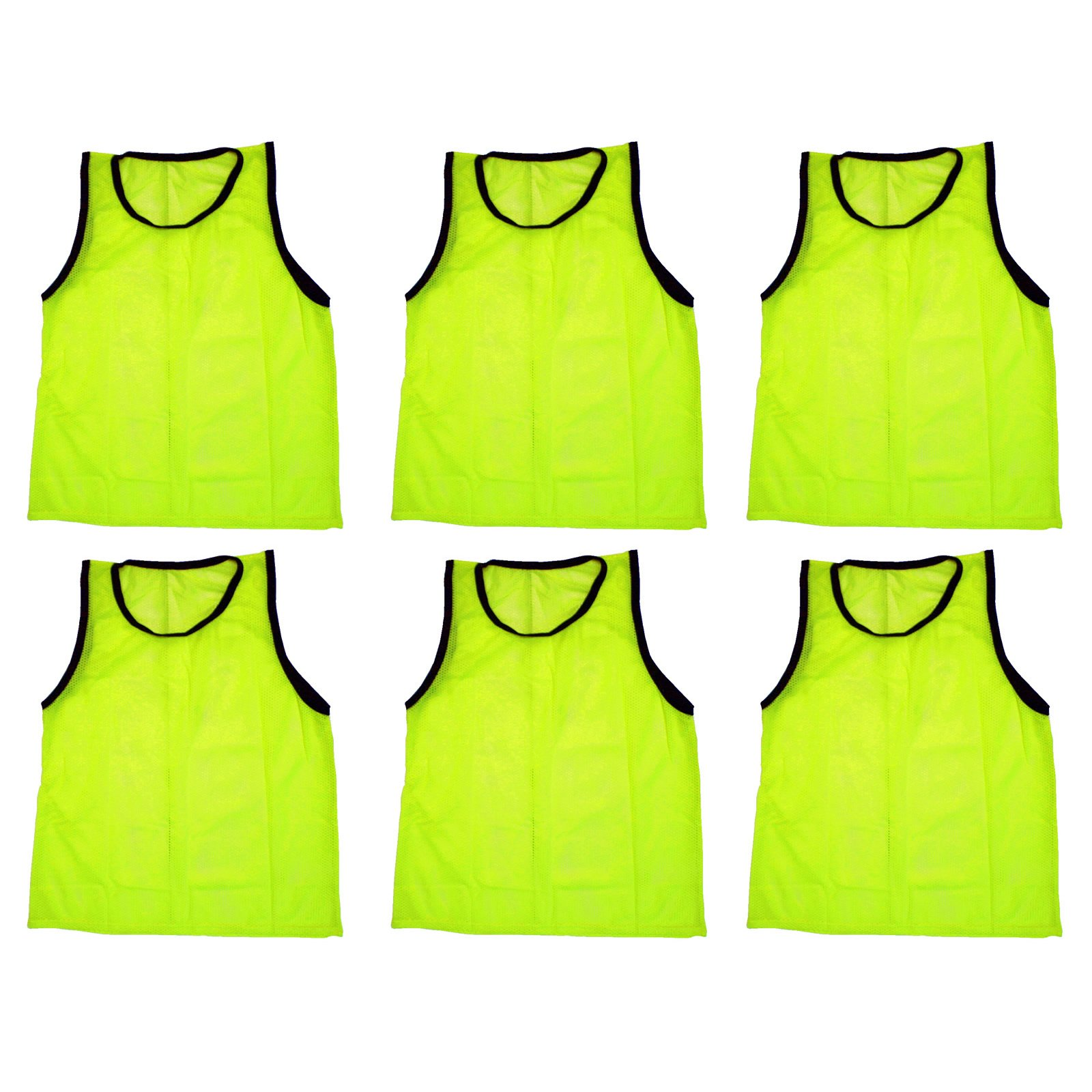BlueDot Trading 6 yellow adult sports pinnies-6 scrimmage training vests by Bluedot Trading