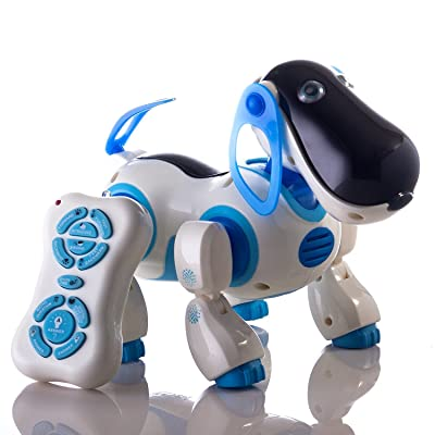 Durherm Smart Storytelling Robot Dog, Sing Dance Walking Talking Dialogue Cute Pet Toy with Infrared Remote Control: Toys & Games