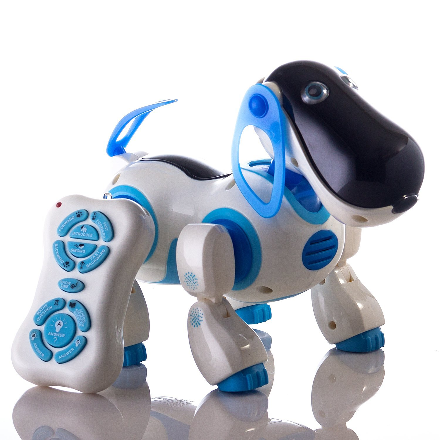 Durherm Smart Storytelling Robot Dog Sing Dance Walking Talking Dialogue Cute Pet Toy with Infrared Remote Control