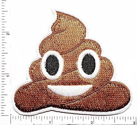 Amazon.com: Caca Emoji Funny Cartoon Logo Kid Hippie Patch ...